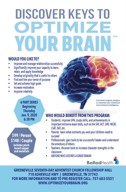Optimize your brain flyer